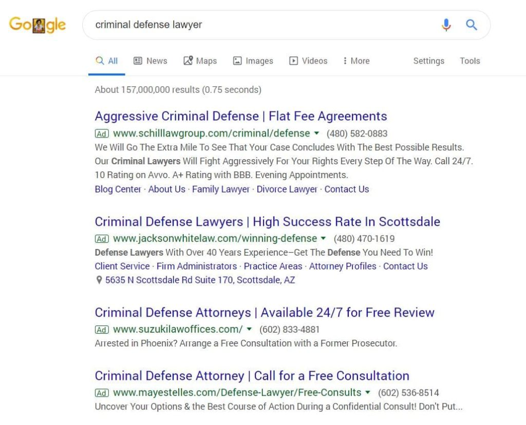 Google Adwords Marketing Advertising For Lawyers