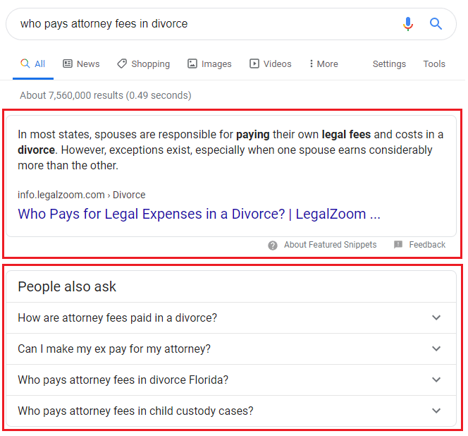 People Also Ask Section in SERP