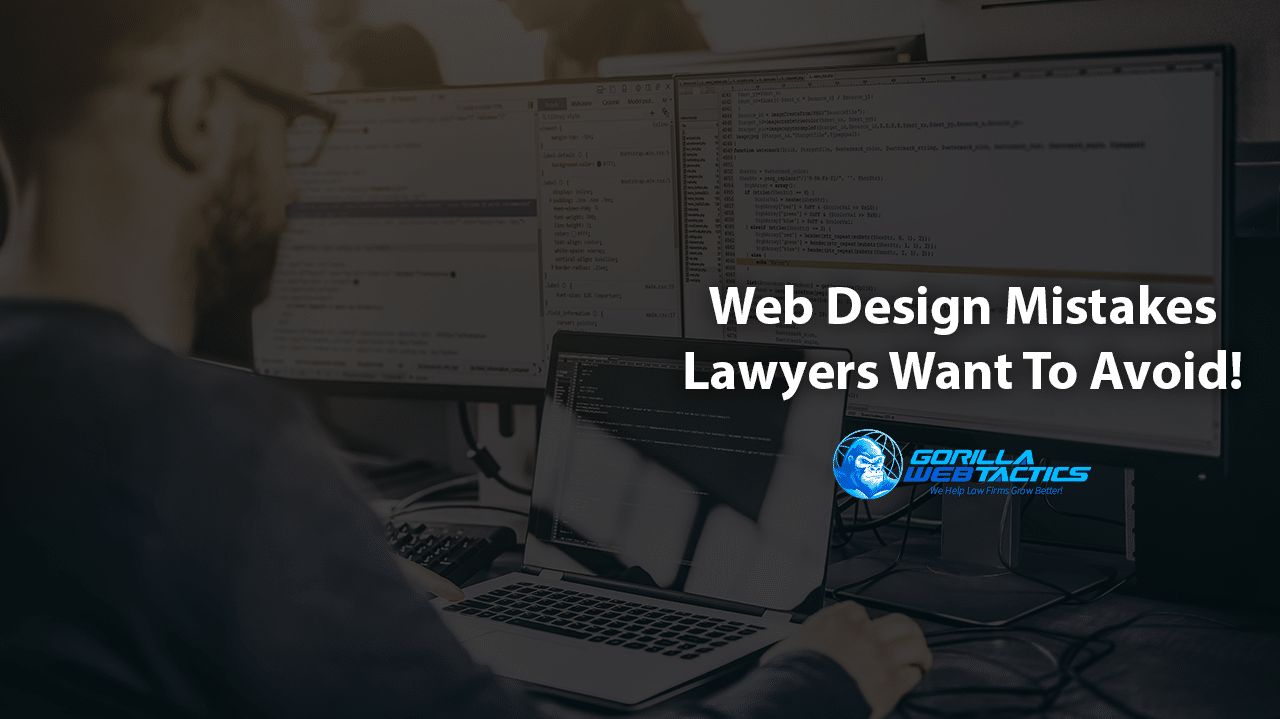 Web Design Mistakes That Lawyers Need to Avoid