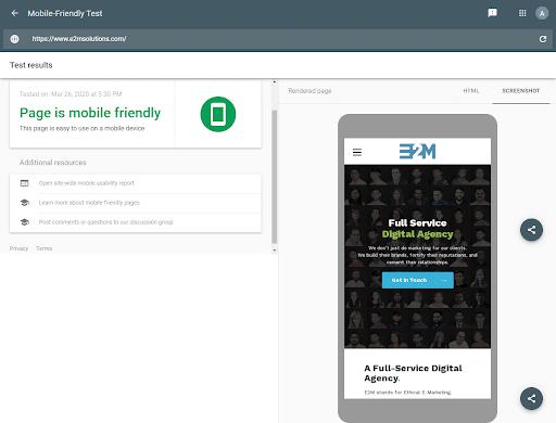 Google Mobile-Friendliness Testing Tool