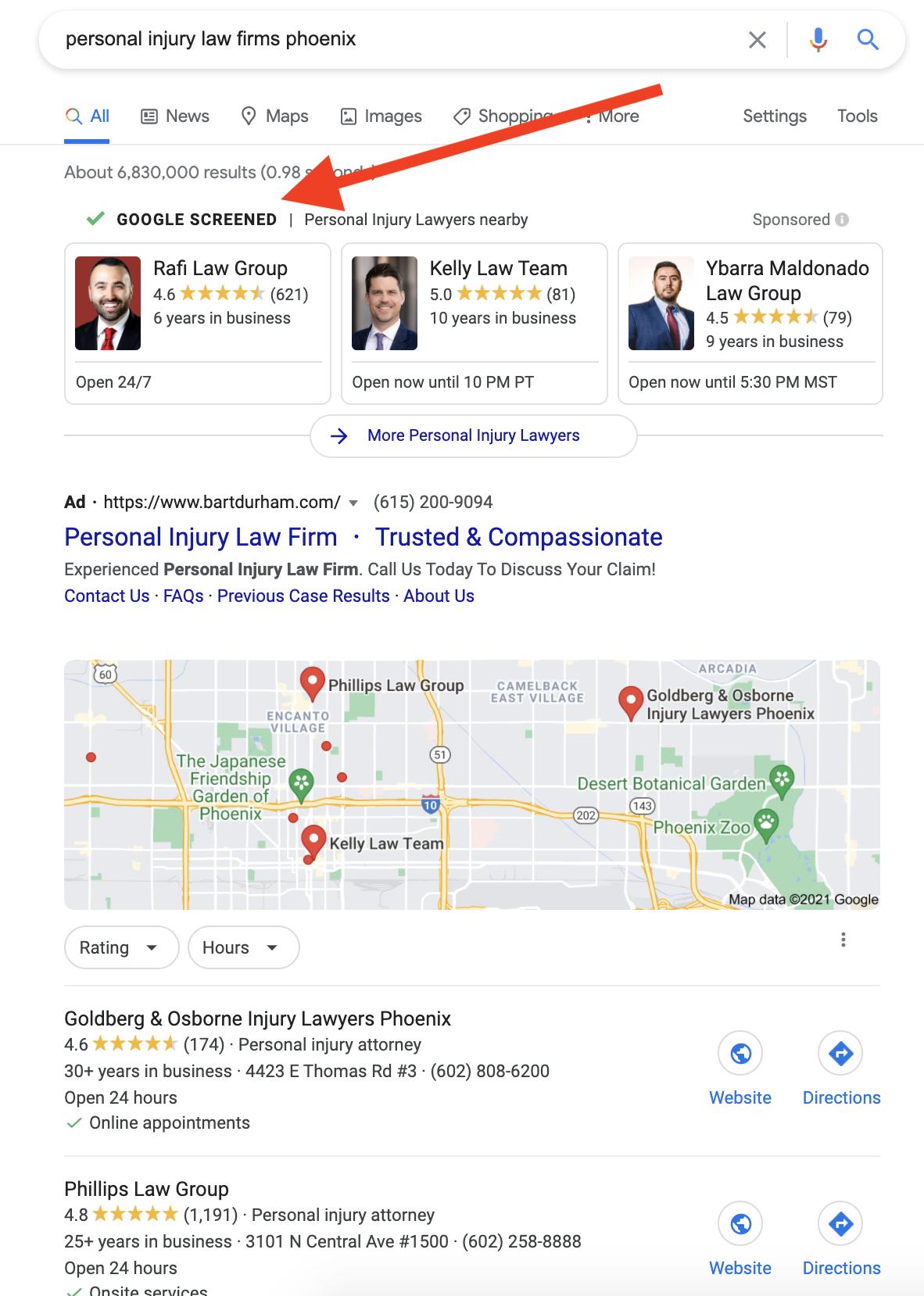 local service ads lawyer phoenix